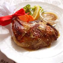 クリスマスローストチキン&白ワイン醤油ソース
