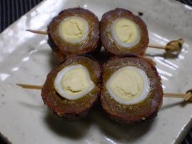 おせち 干し柿で巻いた卵