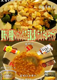 美味ドレの豆腐とお肉の特撰チョギレサラダ