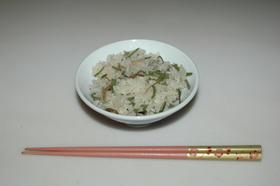 もち米をつかって☆山菜おこわ