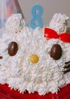 キティちゃんのケーキ♡スイスロールで節約