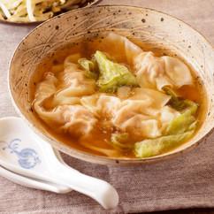 肉ワンタンとレタスのスープ