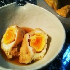 面倒臭そうで簡単◎卵の巾着煮