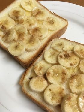 シナモンの香り♪食パンで簡単バナナパン