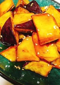 レンジで簡単時短タレ*カリカリ大学芋