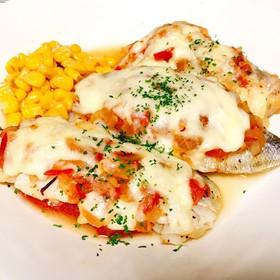 鱈のハーブトマトチーズソテー