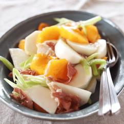 かぶと柿の生ハムマリネ