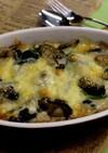牡蠣と冬野菜の味噌グラタン
