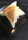 はんぺん、チーズ&ハムの挟み焼き♪