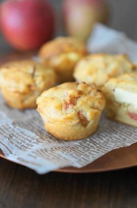 酒粕とりんごのチーズマフィン