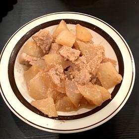 【外国で料理】豚バラと大根のゴマだれ煮風