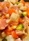 混ぜるだけ☆マグロと長芋とトマトのサラダ
