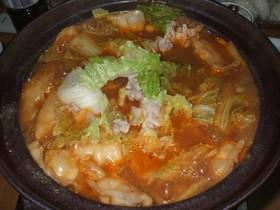味噌仕立てキムチ鍋