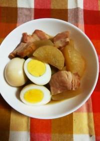 ブロックベーコンと大根&卵の煮物