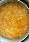 鍋にこびりついたカレーを利用した豚汁