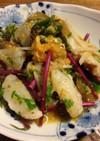 地蛸のカルパッチョ・蜜柑と柚子胡椒ソース