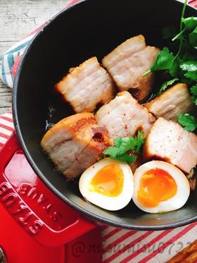 余熱調理で簡単豚バラの醤油煮