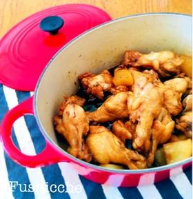 健康美人♡鶏手羽と大根の甘酢煮