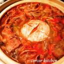 まるごとカマンベールチーズトマト鍋