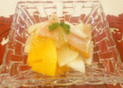 カブと柿と生ハムのサラダ