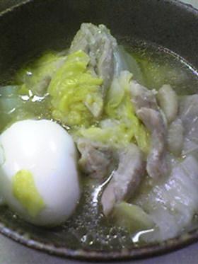 鶏白菜あっさり煮 With にんにくみそ
