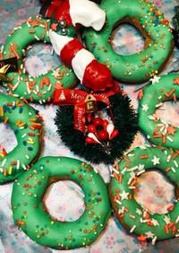 クリスマスリースのシュークリーム