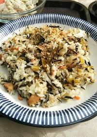 ひじきの煮物リメーク*高菜ひじき炒飯