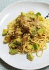 アボカドとツナのクリームスパゲッティ