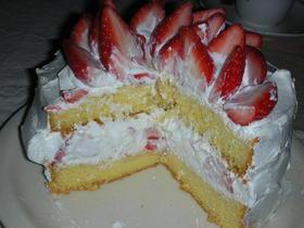 基本のショートケーキ♪