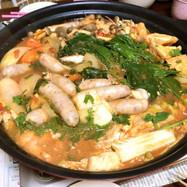 我が家の基本のトマト鍋+つけ麺パスタ