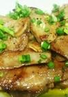マグロのアラのニンニク醤油ソテー