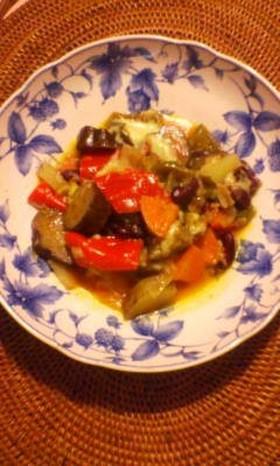 色々野菜のトマト&チーズ煮