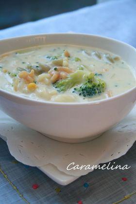 マカロニブロッコリー*コーンスープ