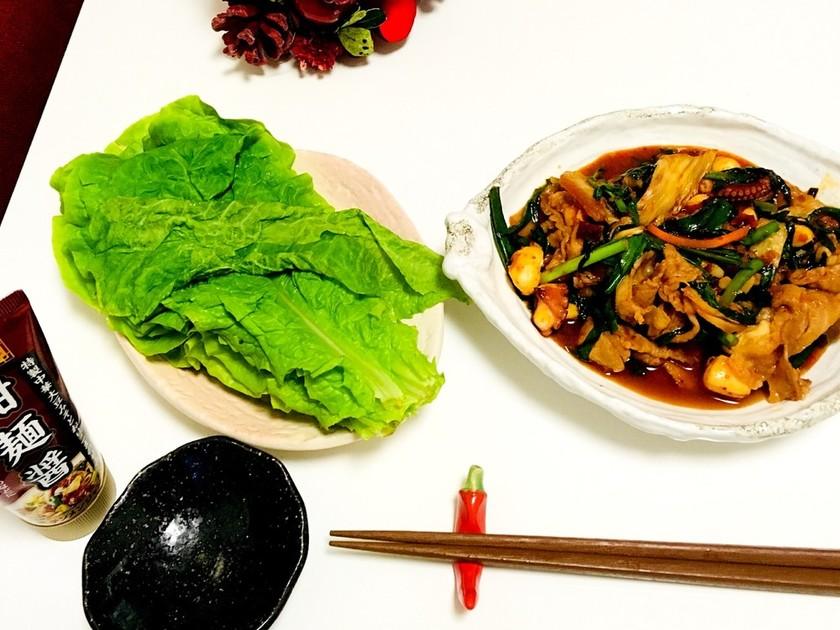 韓国風チュクミポックン(タコの甘辛炒め)