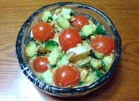 蛸とアボカドのわさび醤油サラダ