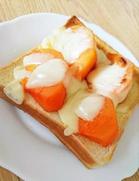 話題沸騰中!!柿トースト
