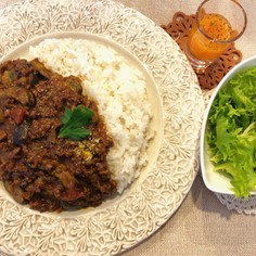 茄子と挽肉のトマトカレー