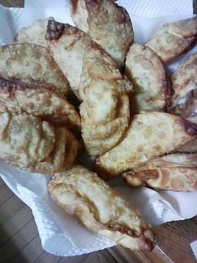 レンコンとチーズの揚げ餃子