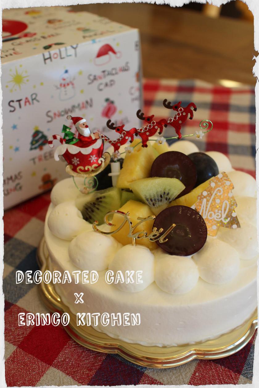 ふんわりスポンジのデコレーションケーキ☆