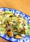 キャベツ&長ネギと卵のニンニク炒め♫