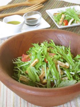 京みず菜と京あげのサラダ