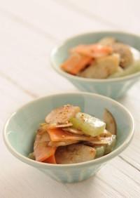 お刺身蒟蒻とごぼうのサラダ