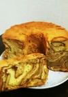 簡単アレンジ!珈琲マーブルシフォンケーキ