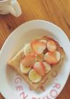 妊娠中の朝食に☆ピーナッツバタートースト