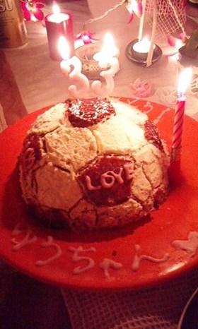 お誕生日に♪サッカーボール☆ケーキ