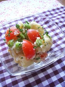 枝豆とプチトマトの☆フレッシュポテサラ☆