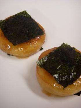 いも餅の中身は魚肉ソーセージとチーズだよ