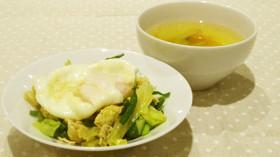 【エコ】豚肉と野菜のカレー風味&スープ