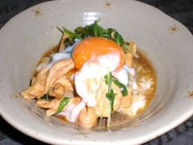 ささみと豆腐のすき焼き~温泉卵添え~