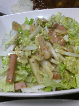 *白菜とソーセージのホットサラダ*